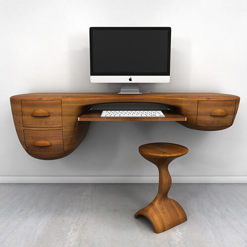 Swerve Desk – excellent woodworking technique by Victor Klassen