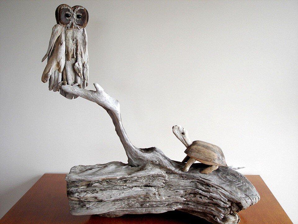Driftwood-sculptures by Richel Vincent (2)