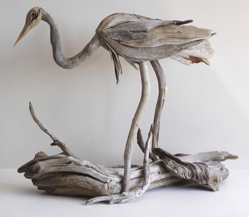 Driftwood sculptures by Richel Vincent