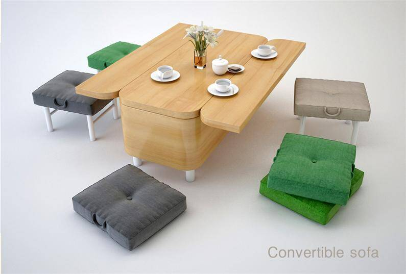 Multifunctional furniture: convertible sofa by Julia Kononenko