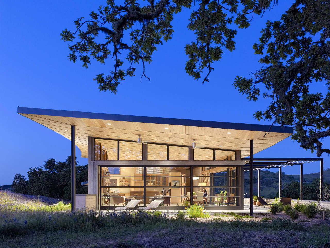 Caterpillar House: Modern Ranch Connected to the Beauty of Nature