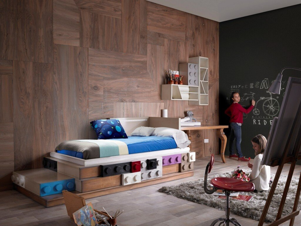 Lego furniture for children's rooms, by Lola Glamour