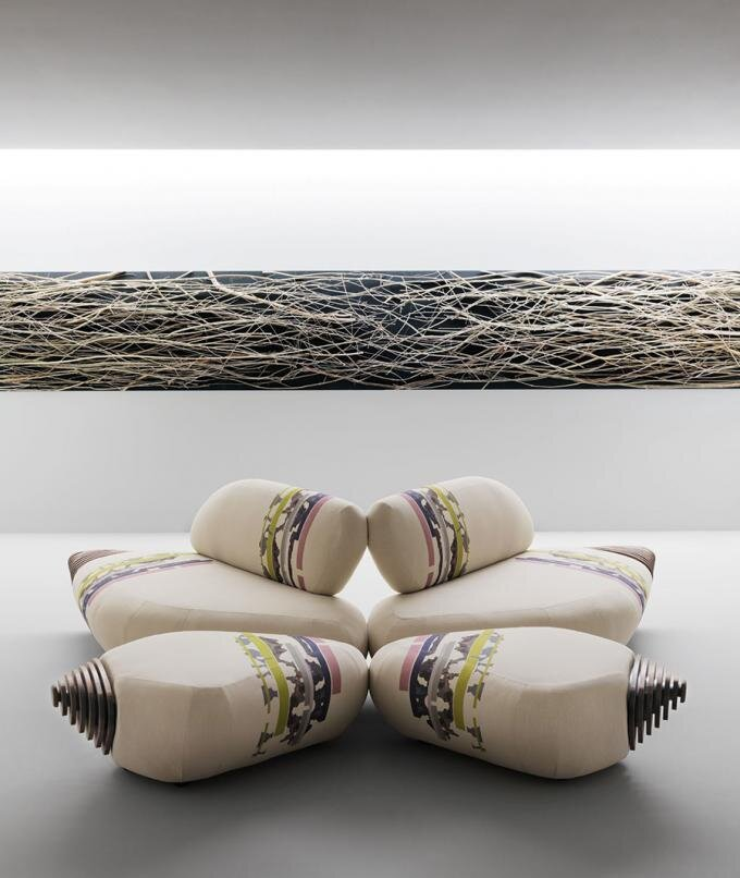 Botan Sofa by EMBT / Inspired by the peony flower