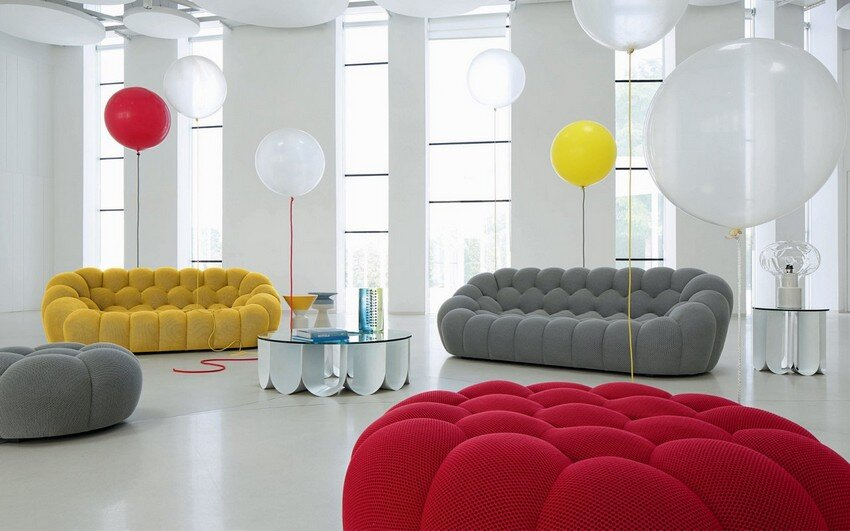 Bubble Sofa by Sacha Lakic: stylish, colourful and handmade