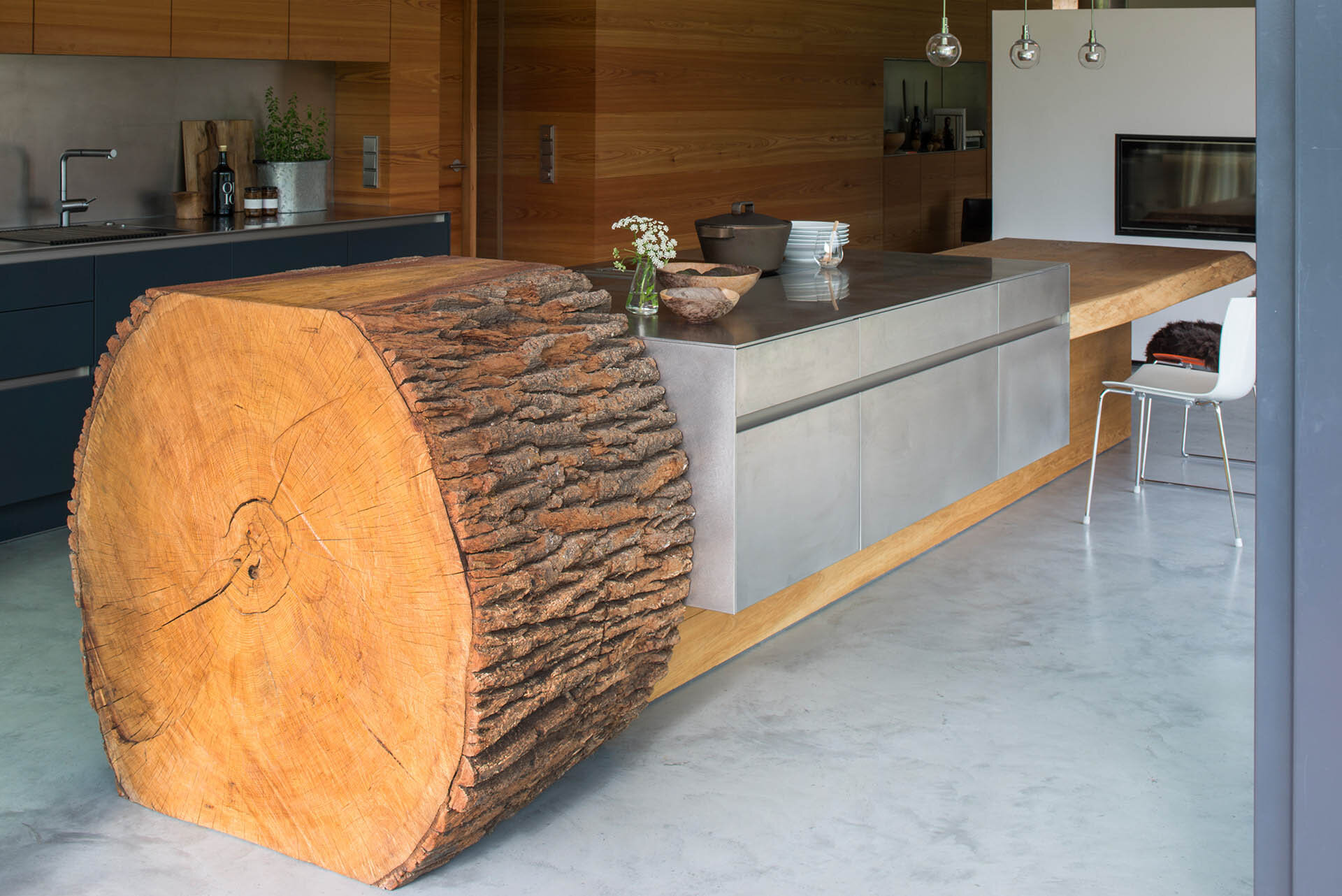tree trunk kitchen island tree trunk kitchen by willi bruckbauer for werkhaus 6365