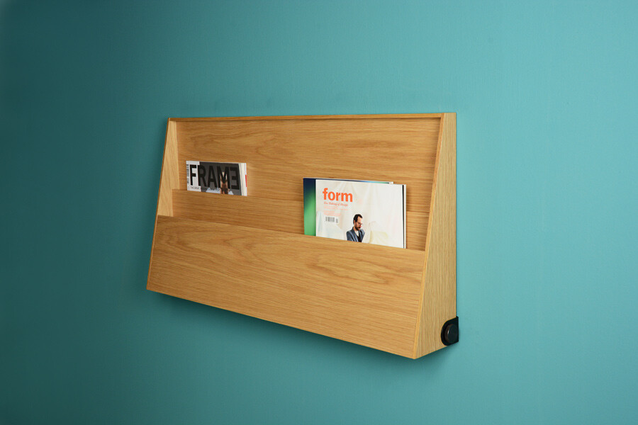 Fju Linear Desk with two functions workspace and shelf
