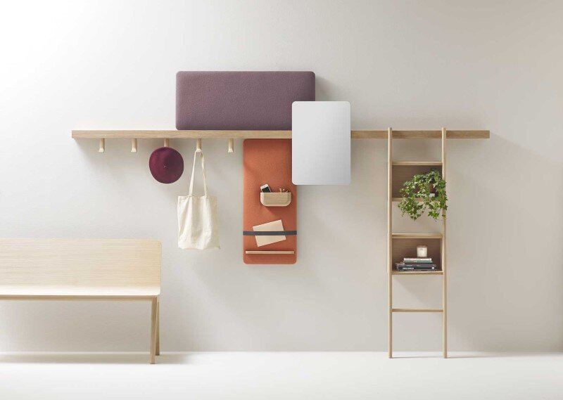 Zutik: new wall-mounted system from the French studio Alki
