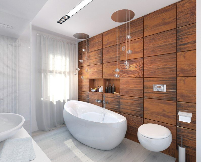 Bathroom renovation by Russian designer