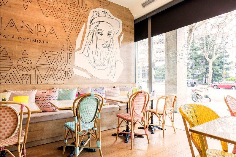 Tribal Interiors Wanda Café by Spanish designer Parolio