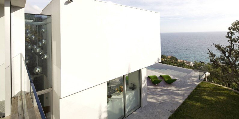 Villa L'escalet in Ramatuelle - with a panoramic view to the sea - outdoor
