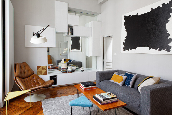 40sqm dwelling in Paris – designed by Charlotte Vauvillier