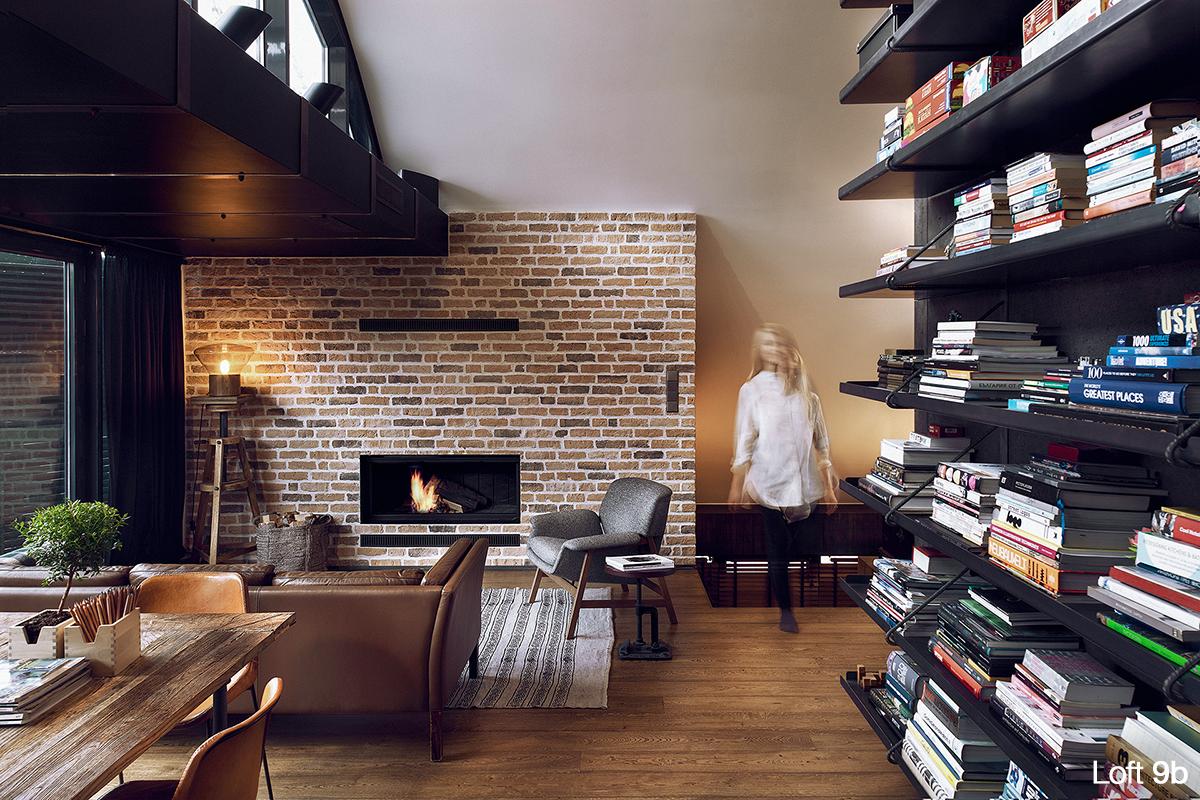 Loft Interior Furnished With Custom Designed Furniture