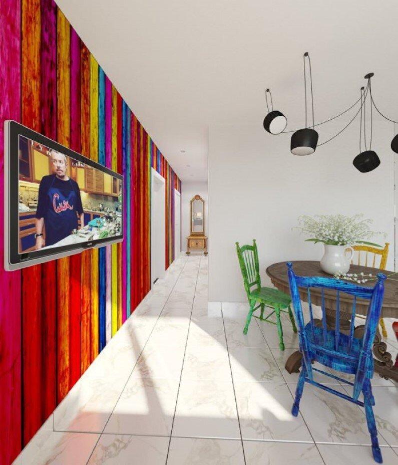 Apartment interiors - bright interior design, freshness and playful colors - Russian designer and architect Tatiana Zhivolupova