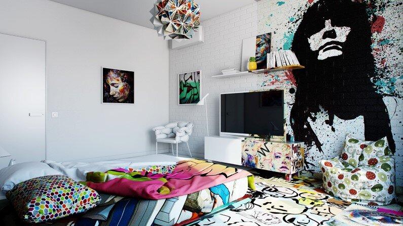 Artistic design bedroom by Pavel Vetrov Avant-Garde Sunday Room