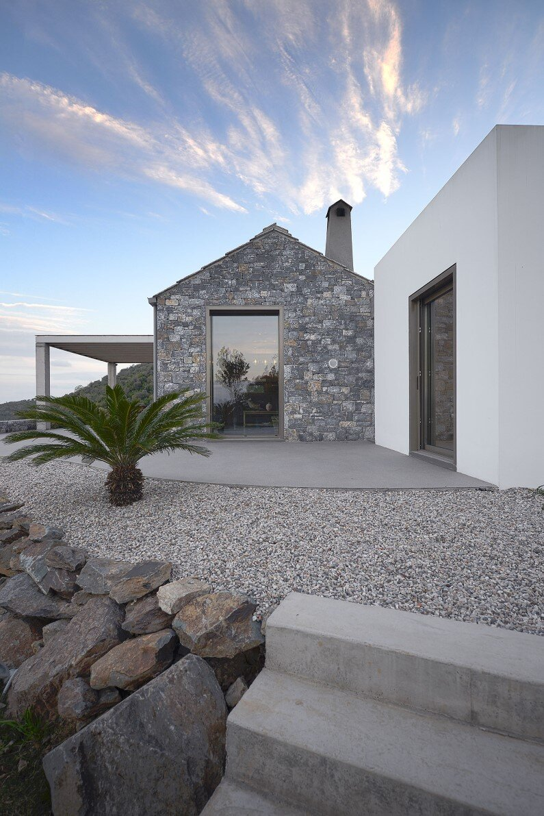Melana House contemporary architecture with traditional materials