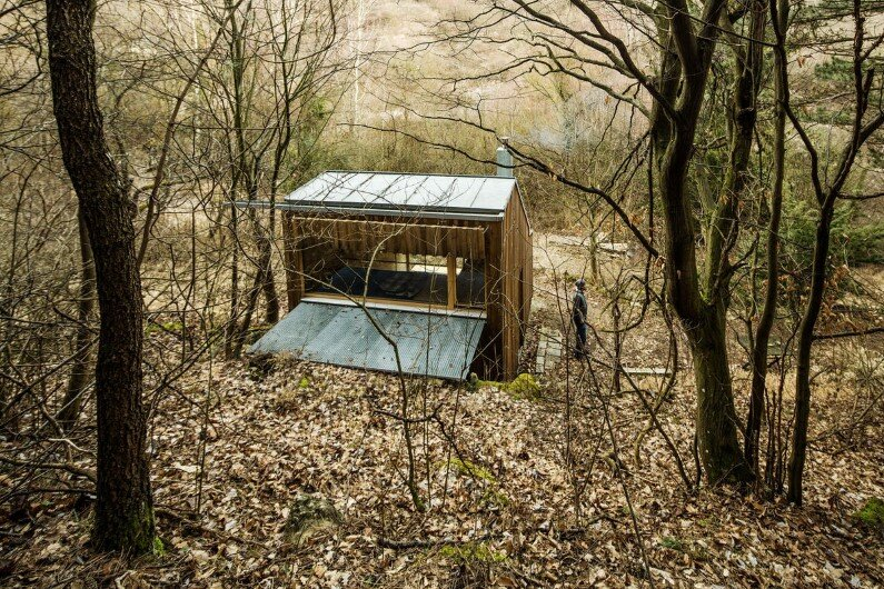 Recreation place in the woods Tom's Hut - Heike Schlauch