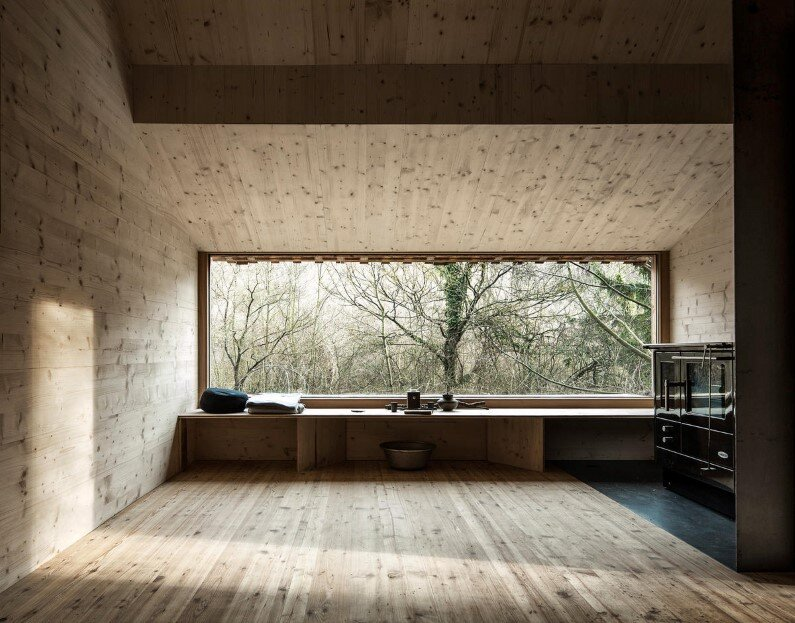 Wood interior - Recreation place in nature