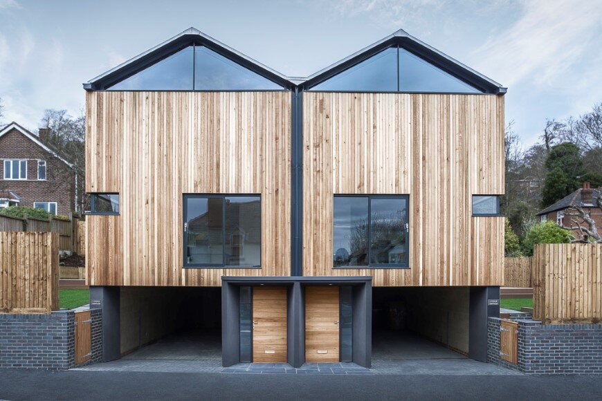 Cedar Lodge: contemporary timber & zinc clad houses