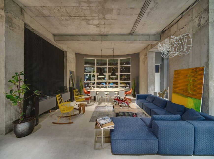 Dizaap office bright loft space with eclectic interior design for Interior design office space