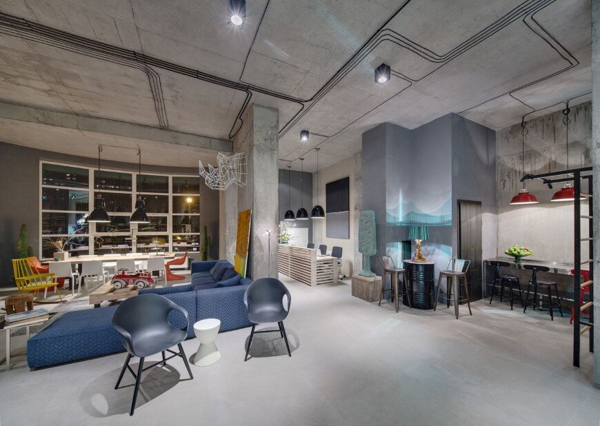 Dizaap office bright loft space with eclectic interior design (17)