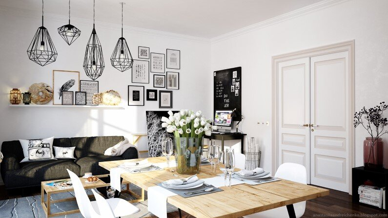 Monochromatic interior design by Anastasia Andreichenko (11) - A designer of Russia has made these gorgeous interior