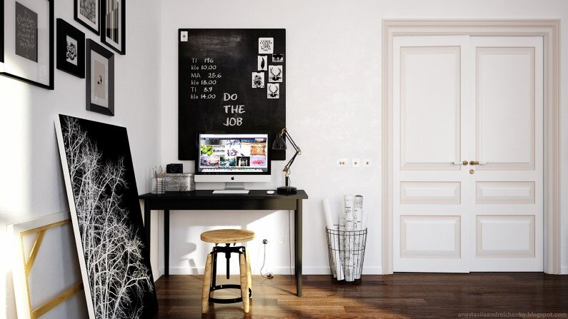 Monochromatic interior design by Anastasia Andreichenko (12) - A designer of Russia has made these gorgeous interior