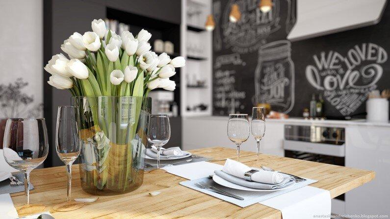 Monochromatic interior design by Anastasia Andreichenko (2)