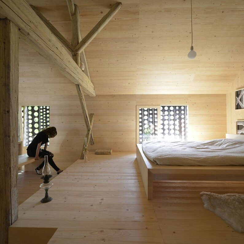 Old Barn Revitalized by Converting into a Loft Apartment