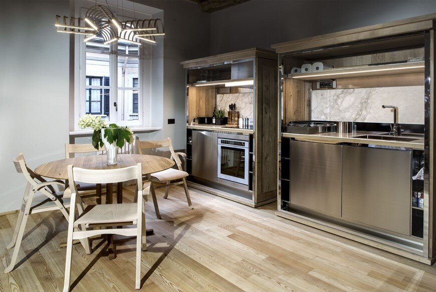 Old Milan Apartment With Reconditioned Rustic Interiors