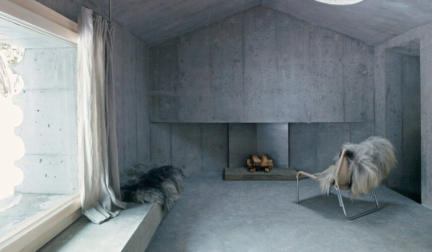 Refugi Lieptgas fascinating concrete cabin in the Swiss Alps (2)