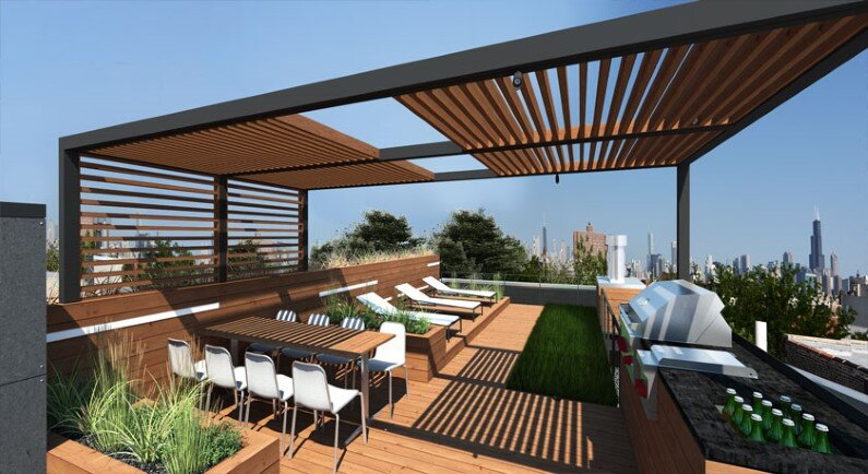 Rooftop retreat designed to showcase the Chicago skyline (2)