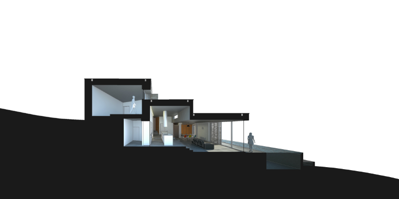 Gateira concrete house designed in harmony with dramatic landscape (4)