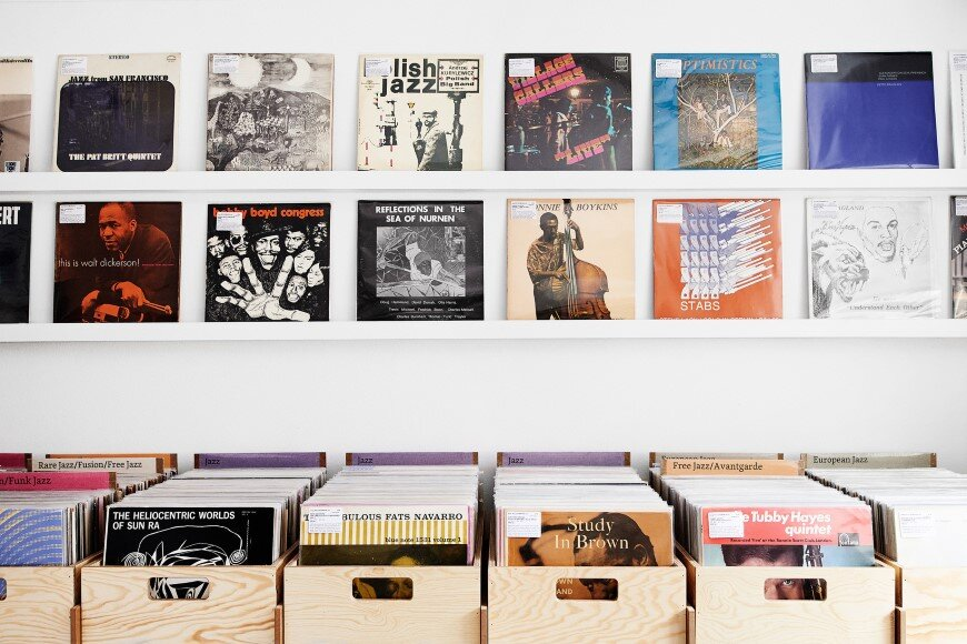 Interior and product design for Record Mania