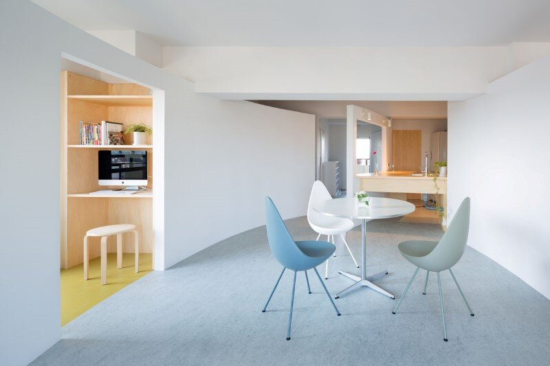 Japanese interior design to create a very calm and uncluttered home