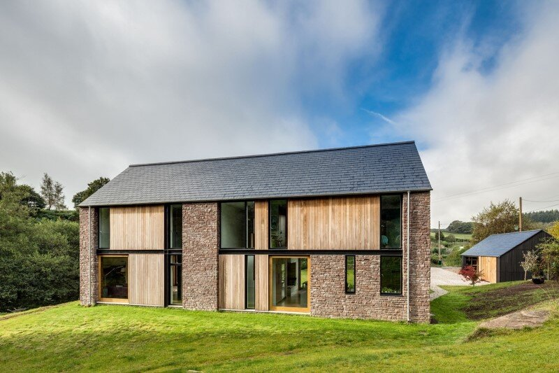 New-build four bedroom family house set in a secluded valley in Monmouthshire