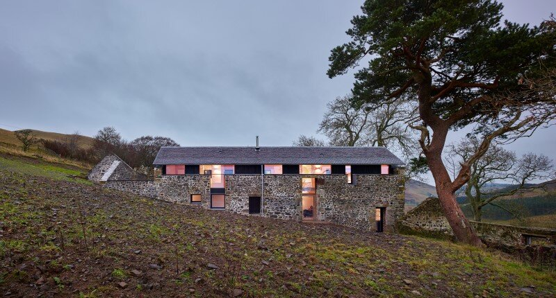 Old mill transformed into a modern holiday home