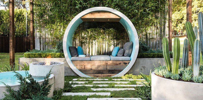 Pipe Dream Garden - expressive use of concrete material (7)