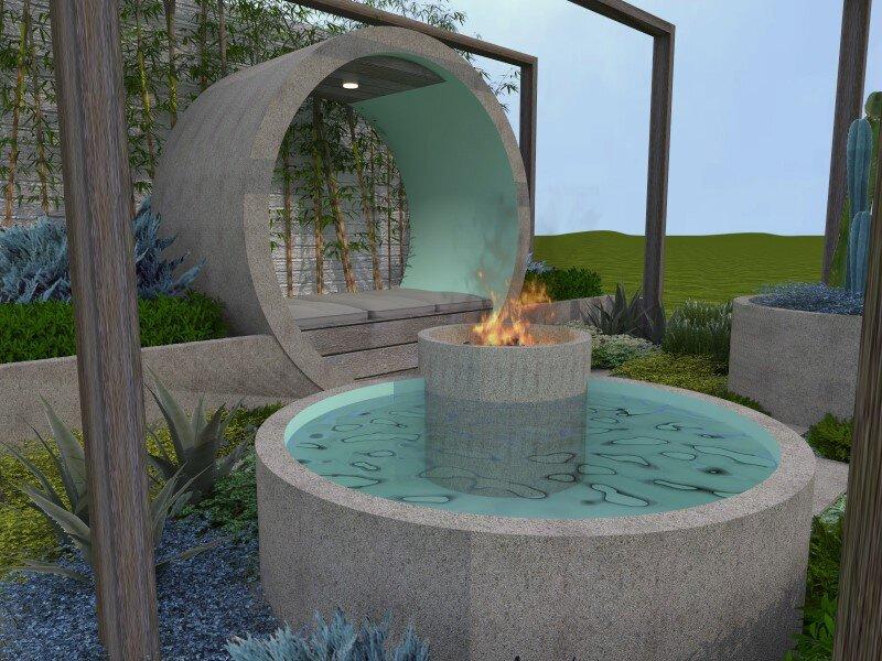 Alison Douglas Design - Garden - expressive use of concrete material (8)