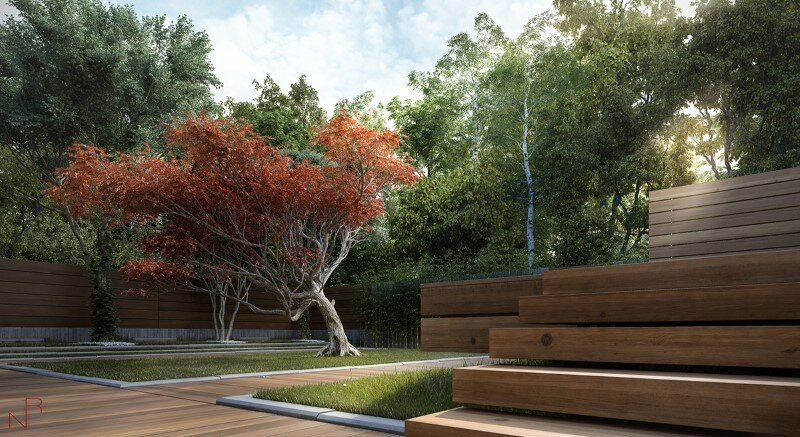Romas Noreika's personal architectural project for a summer house (6)