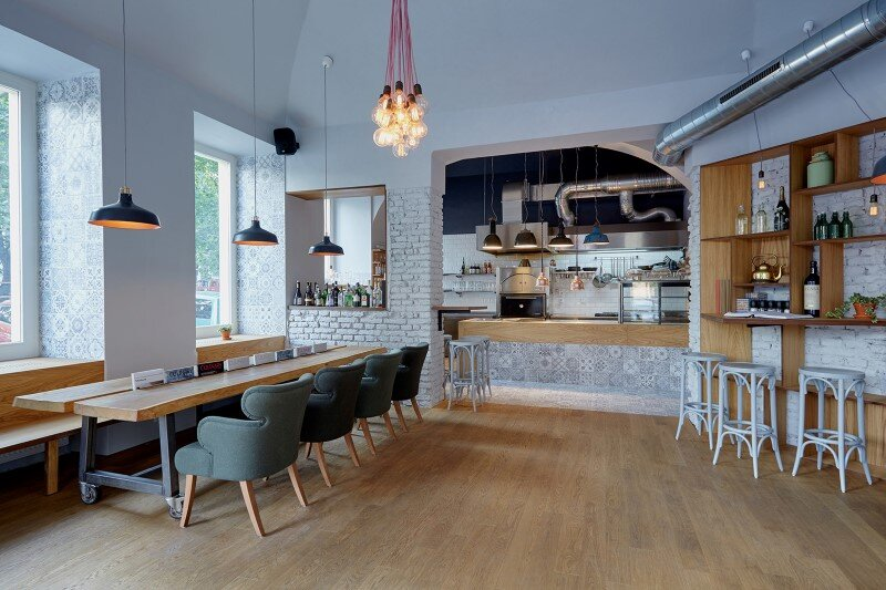 After Being Flooded Many Years, This Space Was Transformed into a Wonderfully Intimate Bistro