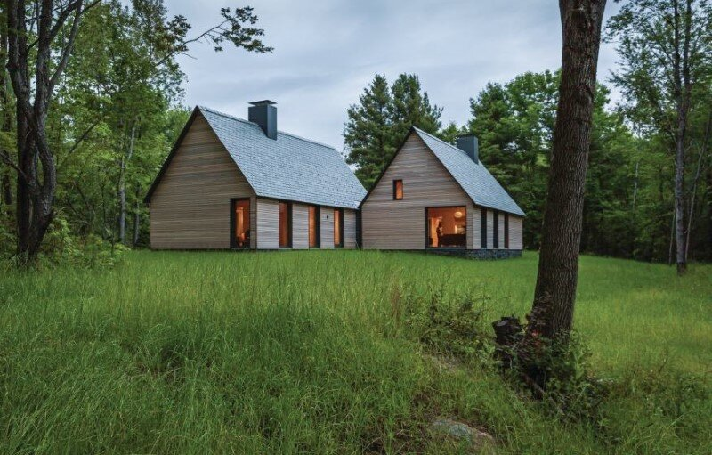 Five wooden cottages for Marlboro Music Festival
