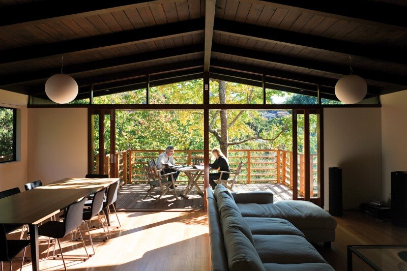 Glade House: Modern Home with Raking Ceilings and Exposed Rafters