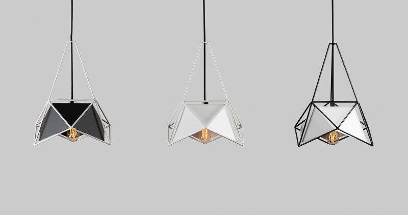 Modern lightings made entirely of metal
