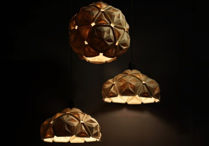 Penta Lamp Collection – aesthetics and sustainability through recycling of cassava waste