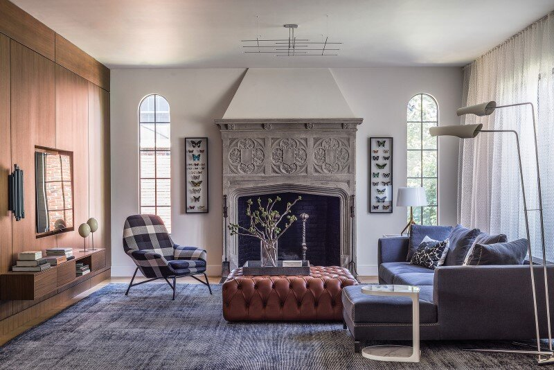 Redesign of 1932 Tudor style suburban home in Newton, Massachusetts