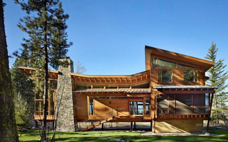 Sustainable Mountain House In The Methow Valley Of
