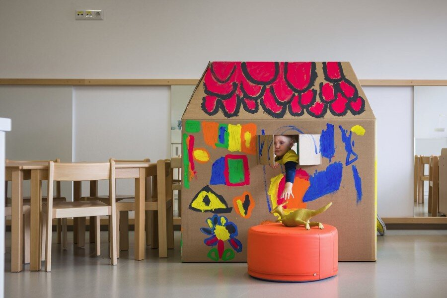 Šmartno Timeshare Kindergarten – Spaces Combined into one Learning Landscape