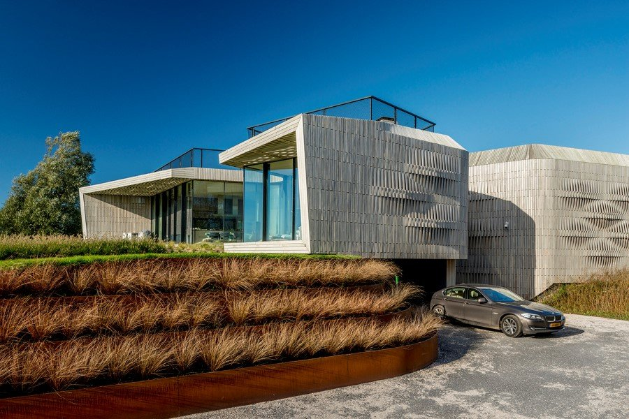 contemporary smart home with integrated sustainable solutions