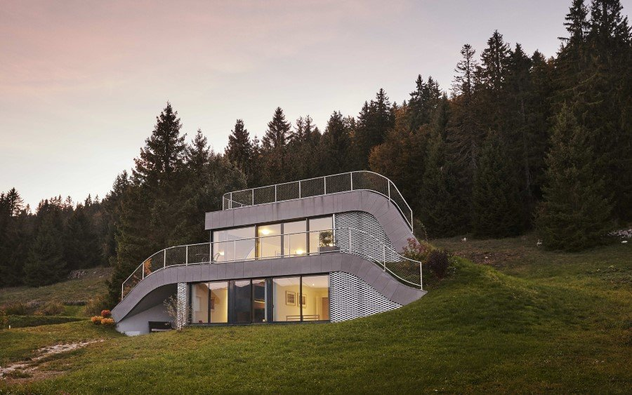 Jura House Blends into the Surrounding Hill