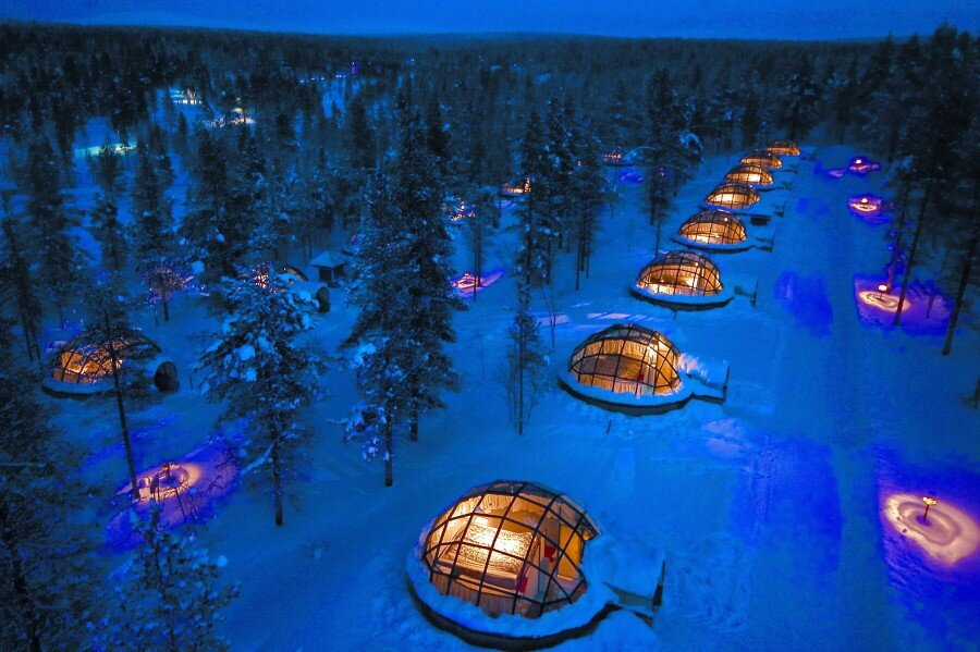 Kakslauttanen Arctic Resort in Finnish Lapland